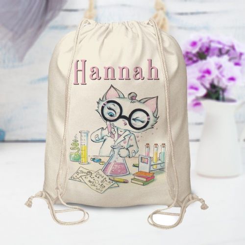 Personalised Nina Scientist Drawsting Bag